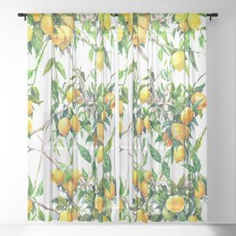 Lemons on the Tree Sheer Curtain