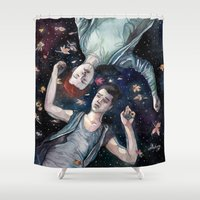 shameless Shower Curtains featuring Sorry. I'm late. by Meuphrosyne