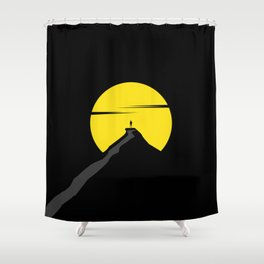 the moon the mountain Shower Curtain