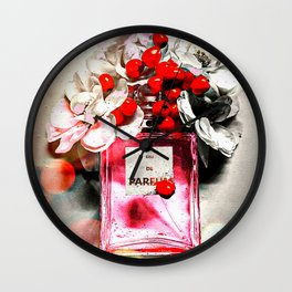Eau de Parfum Pink Wall Clock