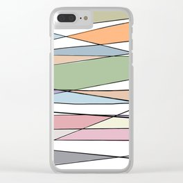 Intersecting Lines Clear iPhone Case