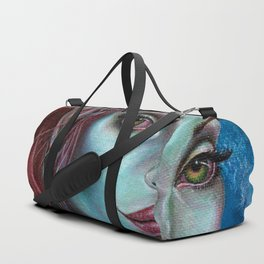 Apocolpyse Alien Girl Fantasy Art by Laurie Leigh Duffle Bag