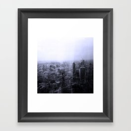 London Old vs New Framed Art Print