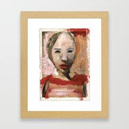 Scarlett/Newspaper Serie Framed Art Print