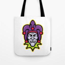 Jester Head Mascot Tote Bag
