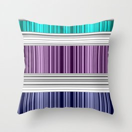 The colorful stripes . Throw Pillow
