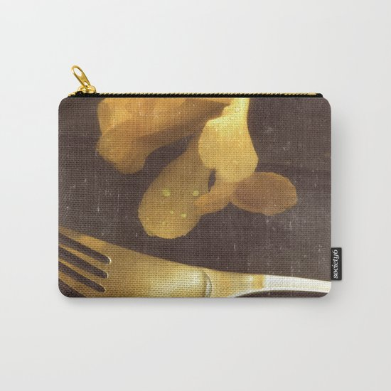 Flowers on Slate, variation 3 Carry-All Pouch