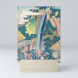 Katsushika Hokusai Waterfall Woodblock Print Mini Art Print
