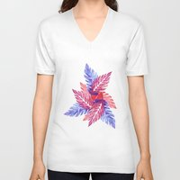 plants V-neck T-shirts featuring Plants by melanie johnsson