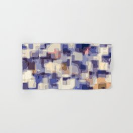 blue yellow and pink painting abstract background Hand & Bath Towel