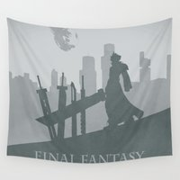 final fantasy Wall Tapestries featuring Final Fantasy VII by [SilenceCorp.]