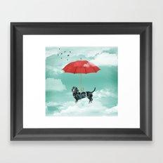 Dachshund chute Framed Art Print
