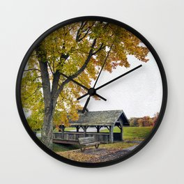 Covered Bridge Wall Clock