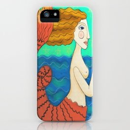 Abstract Mermaid Painting  iPhone Case