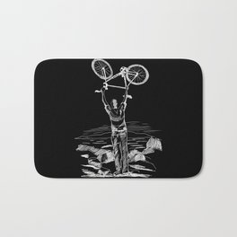 Bike Contemplation Bath Mat