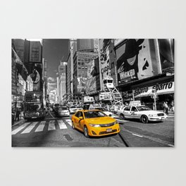 Times Square Cab  Canvas Print
