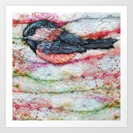 Candied Chickadee 4 Art Print