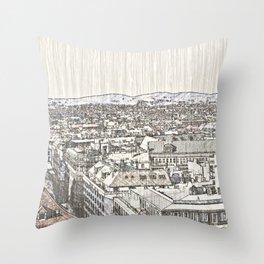 Austria - Sketchy Vienna 2 Throw Pillow