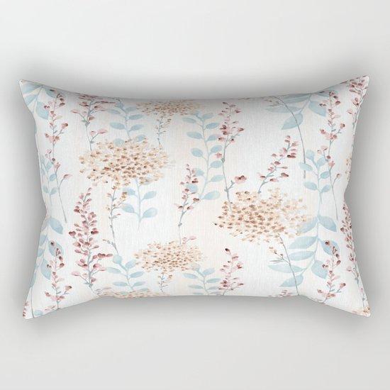 Floral Pattern 09 Rectangular Pillow