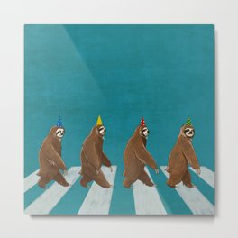 Sloth the Abbey Road Metal Print