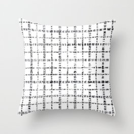 Black and White Plaid Throw Pillow
