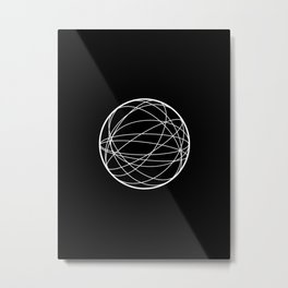 Karma Wheel Metal Print