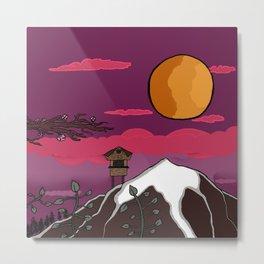 Sunset in Japan Metal Print
