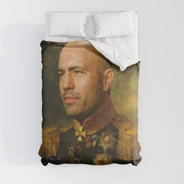 Joe Rogan Poster, Comedian, Podcast, Classical Painting as General, Regal art Comforters