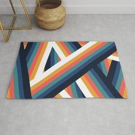 Zig Zag Retro Color Stripe Lines Rug