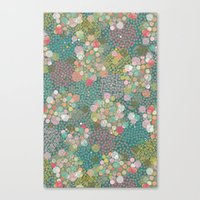 polkadot Canvas Prints featuring Camouflage Polkadot by Pattern Penny