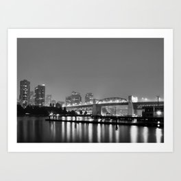 Vancouver in the Haze BW Art Print