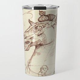 Leonardo Da Vinci, The Four Horses of Apollo Travel Mug