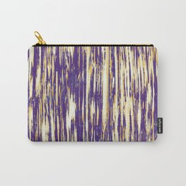 Ikat Streaks in Royal Gold Carry-All Pouch