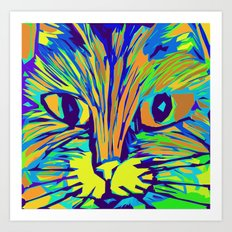 Orange Kitty 3 Art Print