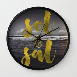 Sol & Sal Wall Clock