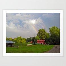 magical sky puke Art Print