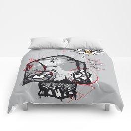 Skull beer Comforters