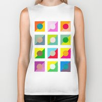 watercolour Biker Tanks featuring WaterColour by VentureDesign