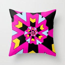Trippy Spiral Pattern Throw Pillow