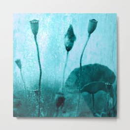 Poppy Art Image Metal Print