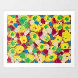 Interesting Thoughts by Australian Young Artist Lang Jing Niya Potdar – Acrylic Painting on Canvas Art Print