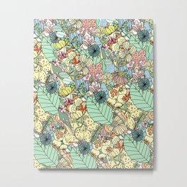 Nature Bloom Pattern Metal Print