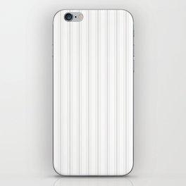 Creamy Tofu White Mattress Ticking Wide Striped Pattern - Fall Fashion 2018 iPhone Skin