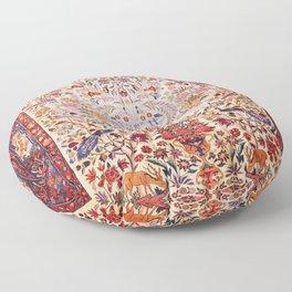 Kashan Dabir Oil Drilling Animal Rug Print Floor Pillow