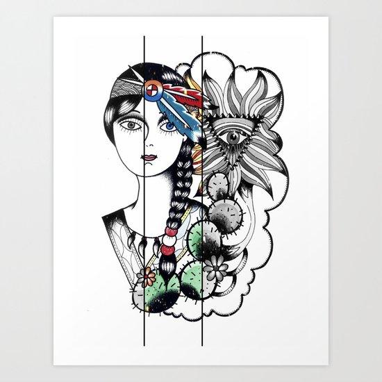 Cactus Eye Pop Style Art Print