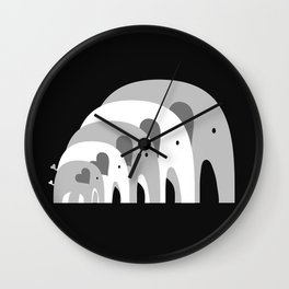 Nested Elephants Wall Clock