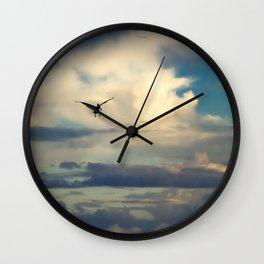 Pelican flight Wall Clock