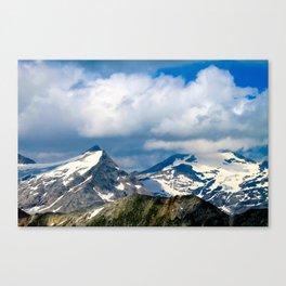 snowy mountain peak. Canvas Print