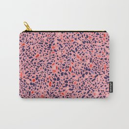 Terrazzo pink red blue Carry-All Pouch