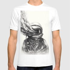 Transposed White Mens Fitted Tee MEDIUM